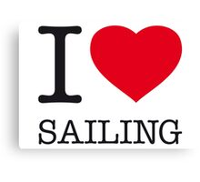 I ♥ SAILING Canvas Print