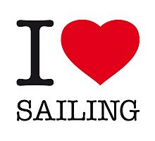 I ♥ SAILING Photographic Print