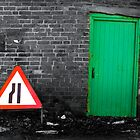Red Sign ..... Green Door by riotphoto