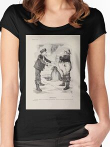 Cartoons by Sir John Tenniel selected from the pages of Punch 1901 0106 Arbitration Women's Fitted Scoop T-Shirt
