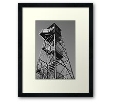 Watchtower overlooking the Mississippi Framed Print