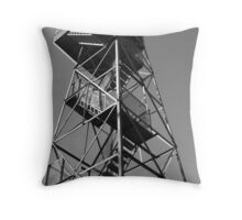 Watchtower overlooking the Mississippi Throw Pillow