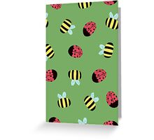 Bumblebees and Ladybugs Greeting Card