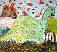 Dino-rrific Day by Darrell Kinsel