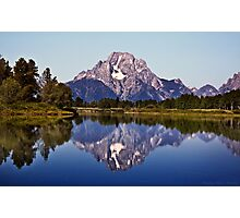 Mount Moran And Snake River Photographic Print