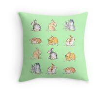 Rabbit Run Throw Pillow