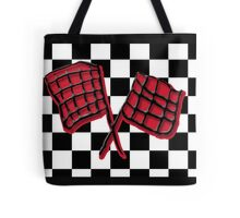Black and red race flag Tote Bag
