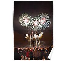 Torchlight Procession 2009 Fireworks, Edinburgh Poster