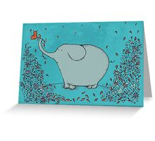 Flower Garden Elephant Greeting Card
