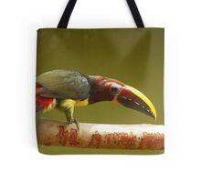 green aracari toucan Tote Bag