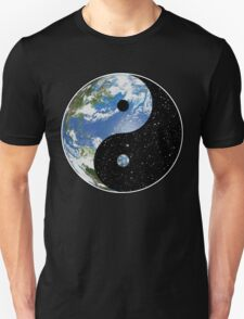 Earth / Space Yin Yang Symbol Unisex T-Shirt