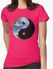 Heaven and Earth Yin Yang Symbol Womens Fitted T-Shirt