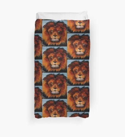 Unique painted lion Duvet Cover