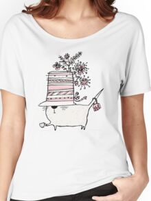 Cup of Tea Cat Women's Relaxed Fit T-Shirt