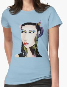 Unique Modern Geisha  Womens Fitted T-Shirt
