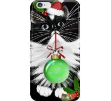 A Tuxedo Merry Christmas iPhone Case/Skin