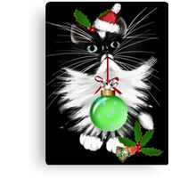 A Tuxedo Merry Christmas Canvas Print