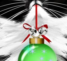 A Tuxedo Merry Christmas Sticker