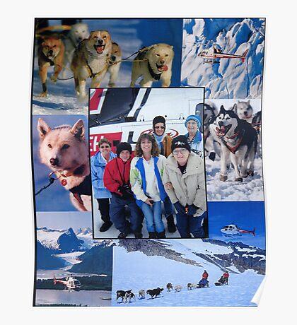 Dog Sledding on a Glacier in Alaska Poster
