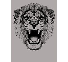 roaring lion t-shirt on lite Photographic Print