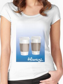 ALWAYS - a Castle celebration (with coffee) Women's Fitted Scoop T-Shirt