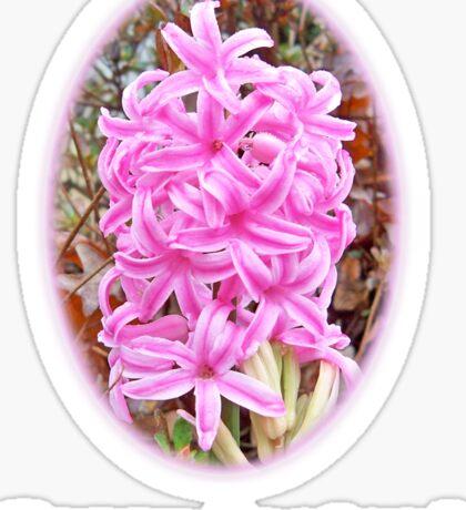 Happy Easter Pink Hyacinth Dark Shirts Sticker