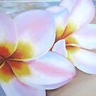 """""""frangipani on beach"""" Close up by Taniakay"""