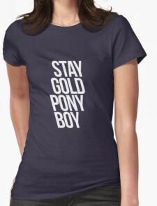 STAY GOLD Womens Fitted T-Shirt