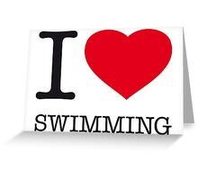 I ♥ SWIMMING Greeting Card