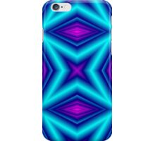 blue purple line iPhone Case/Skin