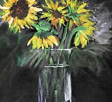 Sunflower in Vase by chomaee