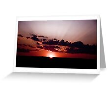 My way or the Highway - Worcester sunset Greeting Card