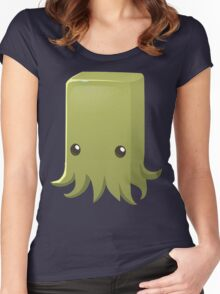 Square Slime Octopus Women's Fitted Scoop T-Shirt