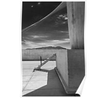 On the roof of Le Corbusier's Unité d'Habitation in Marseille - 4 Poster