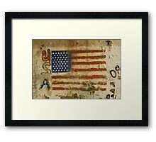 American Flag on a underpass Framed Print