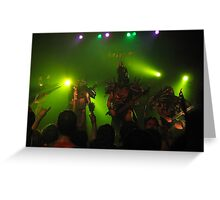 GWAR onstage Greeting Card