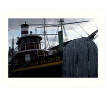 South Street Seaport Tug Art Print