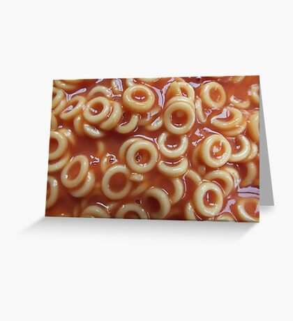 Hoops, Hoops, Glorious Hoops - Spaghetti Hoops Greeting Card