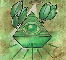 All seeing eye by herenorthereart