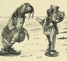 Through the Looking Glass Lewis Carroll art John Tenniel 1872 0093 The Walrus and the Carpenter by wetdryvac