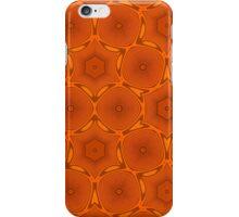Orange modern pattern iPhone Case/Skin
