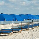 Blue beach chairs by kinz4photo