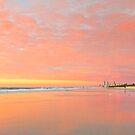 Dawn on Main Beach - Gold Coast Qld Australia by Beth  Wode