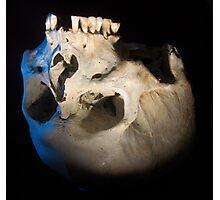 Upside down skull Photographic Print