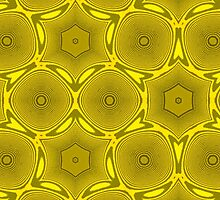 Yellow abstract pattern by ZierNor