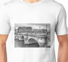 Pont Neuf in Black & White Unisex T-Shirt