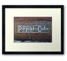 Pepsi Generation Past Framed Print