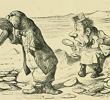 Through the Looking Glass Lewis Carroll art John Tenniel 1872 0098 The Walrus and the Carpenter by wetdryvac