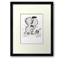 Moody Mouse Framed Print
