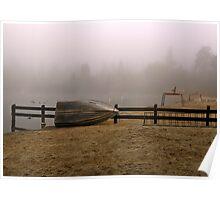 Boat and Lifeguard Stations, Lake Temescal, Oakland California Poster